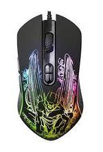 Игровая мышь Qumo Gothic, оптическая, 200-3200 dpi, 7 кнопок, симметричный, RGB, USB