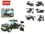 Конструктор HSANHE mini police 19X13.5X5cm, 6 видов