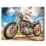 Мотоцикл, 40x50 см, aлмазная мозаика
