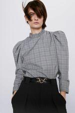 Блуза ZARA Серый в клетку 4437/230/064