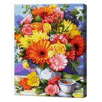 Яркий букет на чаепитие, 40х50 см, картина по номерам Артукул: GX37780
