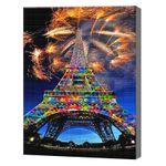 Салют над Эйфелевой башней, 40x50 см, aлмазная мозаика