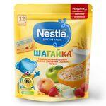 Каша 5 злаков яблоко-земляника-персикс молоком Nestle Шагайка, с 12 месяцев, 200г