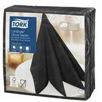 Tork Linstyle обеденные салфетки, 1сл, 39*39, 50/12, черные