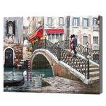 Мост через реку, 30x40 см, алмазная мозаика