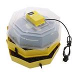 Двойной инкубатор с устройством вращения яиц и термометром CLEO 5x2 DT (82 куриное яйцо или 148 перепелиные яйца)