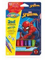 Набор фломастеры 2 в 1, 10 цветов - Colorino Disney SpiderMan