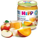 Пюре Hipp из яблок и манго с творожным кремом (7+ мес.), 160 г