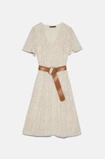 Платье ZARA Бежевый 8741/059/086