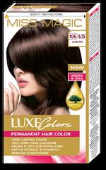 Vopsea p/u păr, SOLVEX Miss Magic Luxe Colors, 108 ml., 106 (6.75) - Șaten roșcat