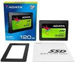 2,5-дюймовый твердотельный накопитель SATA 120 ГБ ADATA Ultimate SU650 [R / W: 520/320 МБ / с, 20/75 тыс. Операций ввода-вывода в секунду, MK / SMI, 3D-NAND TLC]