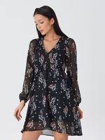 Платье HOUSE Черный в цветочек