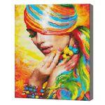 Радужная девушка, 40x50 см, алмазная мозаика Артукул: QA204908