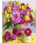 Картина по номерам 40x50 Желто-розовый букет цветов VA1942