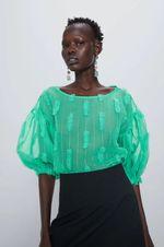 Блуза ZARA Зеленый 2157/043/500