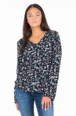 Блуза TOM TAILOR Черный в цветочек 1012605 tom tailor