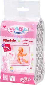 Подгузники для куклы Baby Born 5 шт, код 438782