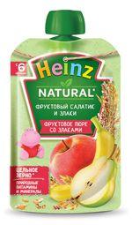 Пюре Heinz злаки и фруктовый салатик с 6 месяцев, 90г