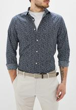 Рубашка JACK&JONES Темно синий с принтом