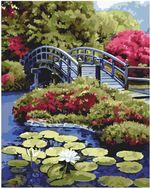 Картина по номерам 40x50 Мостик на тихом озере VA0031