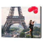 Любовь у Эйфелевой башни, 40x50 см, aлмазная мозаика