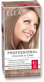 Краска для волос,SOLVEX Elea, 138 мл., 8.1 - Светло-русый пепельный