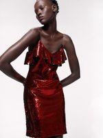Платье ZARA Красный 2157/263/600