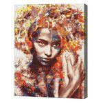Незнакомка в красках, 40х50 см, картина по номерам  BS51400