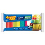 Губки для мытья посуды Фрекен Бок Mix, 4+2 шт.
