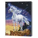 Единорог, 30x40 см, алмазная мозаика QS200274