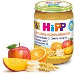 Пюре Hipp яблоки и бананы с зерновыми хлопьями, 190г