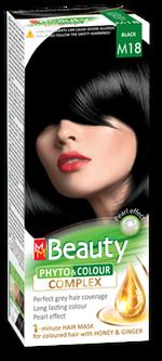 Краска для волос,SOLVEX MM Beauty, 125 мл., M18 - Чёрный
