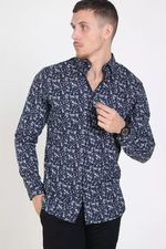 Рубашка JACK&JONES Темно синий с принтом 12162318
