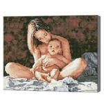 Мама и малыш, 40x50 см, алмазная мозаика  QA202667