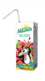 Naturalis mere-zmeură 0,2 L