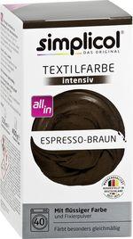 SIMPLICOL Intensiv - Espresso-Braun - Краска для окрашивания одежды в стиральной машине, коричневый эспрессо
