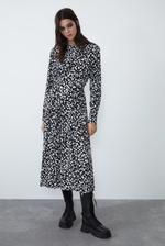 Платье ZARA Черно-белый 0003/308/064