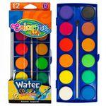 Акварельные  краски 12 цв +кисточка Colorino