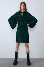 Платье ZARA Зеленый 5584/907/903