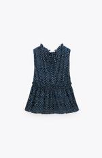 Блуза ZARA Синий в горошек 0387/021/066