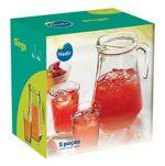 Комплект для напитков NADIR NR-1321 Ginga (280 мл/4 шт.+кувшин 1550 мл)