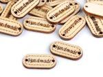 Etichetă din lemn Handmade / nuc