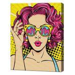 Девушка в очках, 40х50 см, картина по номерам Артукул: GX36220