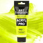 Акриловая флуоресцентная краска ART kompozit, 75 мл №552 Салатовый флуоресцентный