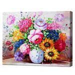 Ваза для цветов, 40x50 см, комбо-набор номеров + алмазная мозаика, YHDGJ70611