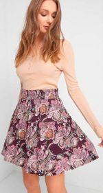 Юбка ORSAY Фиолетовый с принтом