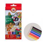 Карандаши цветные Koh-I-Noor Tom and Jerry 12 цветов