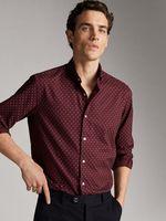 Рубашка Massimo Dutti Бордо 0134/147/600
