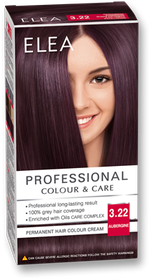 Краска для волос,SOLVEX Elea, 138 мл., 3.22 - Баклажан