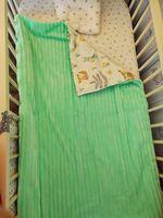 Комплект постельного белья в кроватку Pampy мятного цвета